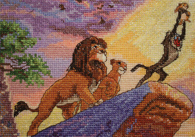 "Disney Dreams Collection By Thomas Kinkade The Lion King 7""X5"" 16 Count 52556"