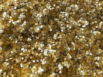 EDIBLE GLITTER GOLD STARS 0.04 Ounce  Used cakes, cupcakes