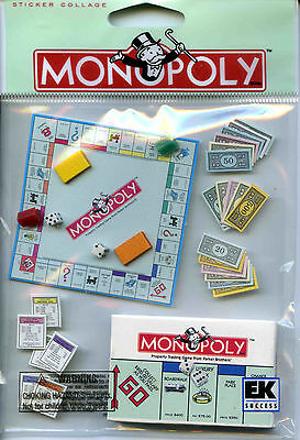 "Jolee's Boutique ""MONOPOLY"" Dimensional Scrapbooking Sticker - Q159"