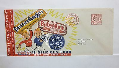 US Curtiss Candy Co. Color Ad Chicago 1939 Metered Mail cover