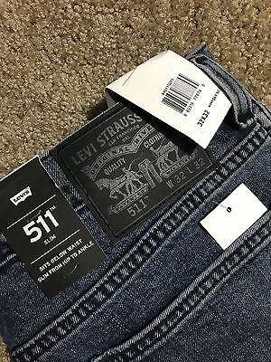 NWT Levis 511 Slim Straight Fit Blue Jeans 40x32 MSRP $69.50