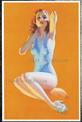 "1930's Earl Moran Authentic Pin-Up Poster Art Print ""Golden Hours"" 11x17"