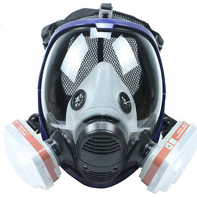 7in1 Suit 6800 Large View Full Gas Mask dust Respirator Painting 6001 Cartridge