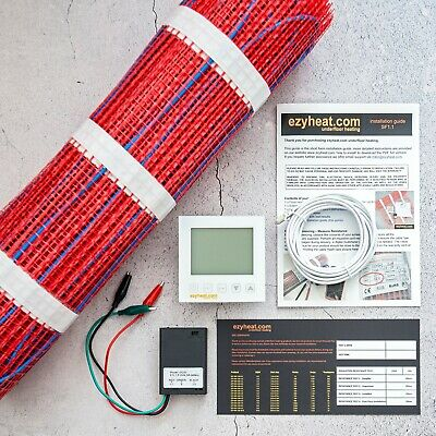 Floor Heating Kits DIY all sizes, electric undertile underfloor, Wi-Fi optional
