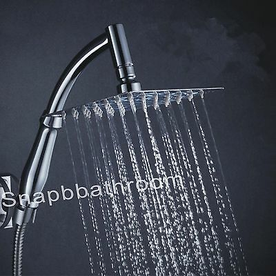 Large High Turbo Pressure Shower Head Chrome Bath Powerful Energy Water Saving