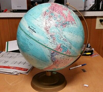 "Vintage Raised Relief REPLOGLE 12"" DIAMETER WORLD NATION SERIES GLOBE"