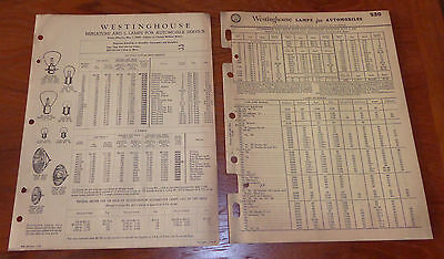 Vintage 1947 /1948 Westinghouse Lamp / Bulb Catalogs and Price Lists