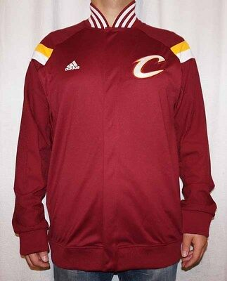 ebeeef639b97 Men s Cleveland Cavaliers Adidas On Court Snap Front Warm-Up Jacket  135