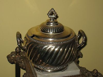 Antique  Victorian  Early Rogers Brothers Triple Silver Plate Soup Tureen