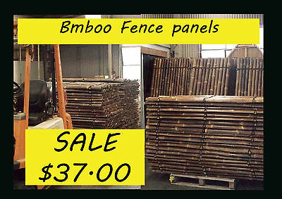 Bamboo Fence Panels  2m tall x 1m wide