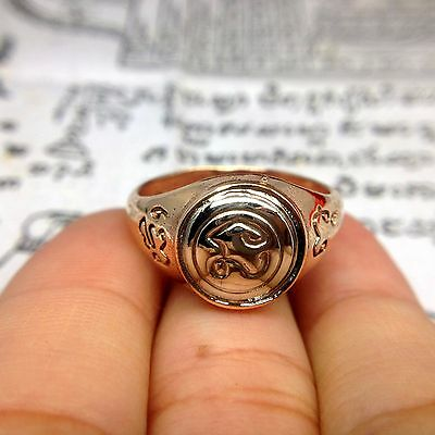 NAMO Ring LP Thongsuk Thai Buddha Amulet Repel Talisman Magick Power Lucky Sz 11