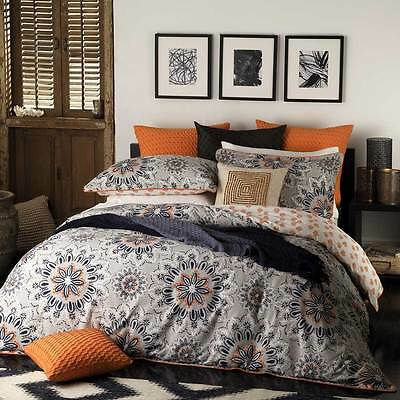 Logan and Mason BALI ORANGE Double Bed Size Doona Duvet Quilt Cover Set NEW