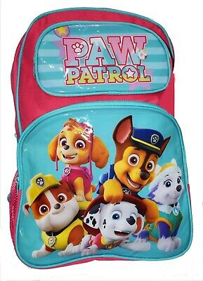 New Large Kids Backpack School Bag Boys Girl Paw Patrol Picnic Tour Chase Red