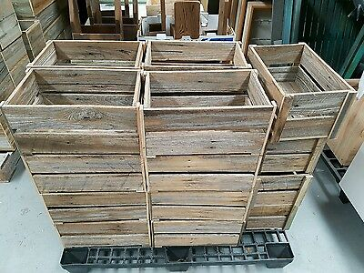 Timber Crate Wooden Fruit Box Bottle Crate Recycled Timber Book Case Shelf