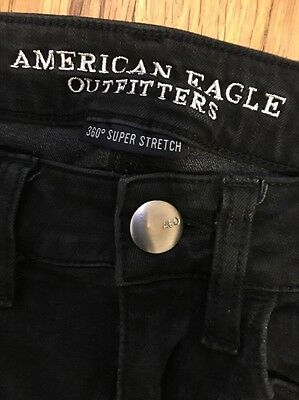 AMERICAN EAGLE JEGGING 360 SUPER STRETCH WOMEN'S JEANS SIZE 2 (25 x 27)