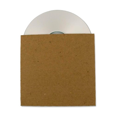 Cardboard CD Sleeve Container 25 pack Guided Products ReSleeve Recycled GDP00082