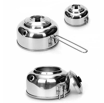 Stainless Steel Mini Kettle Portable Hiking Camping Pot Water Teapot  0.6L