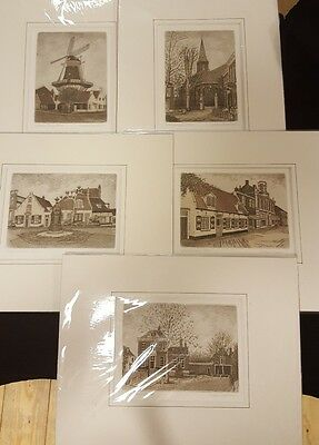 Willem Veldhorst signed Limited Edition etchings x 5