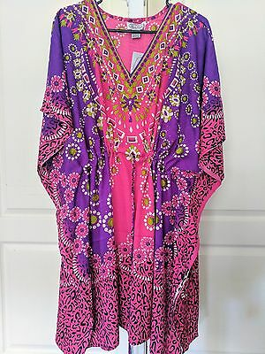 Women's Caftan Shirt /dress/ dashiki Hippie/ Boho/  Beach Cover  fits most sizes