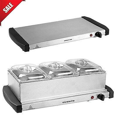 Stainless Steel Buffet Server Food Warmer Tray Kitchen Dining Dish Electric