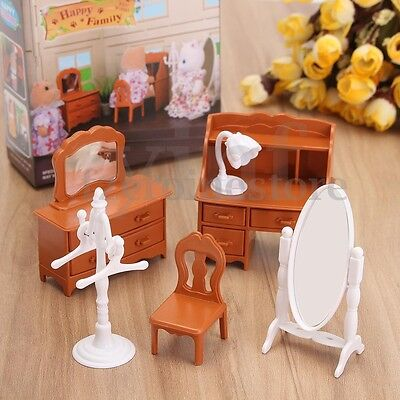Doll House Miniature Bedroom Furniture Toy Set Living Room Kids Child Girl Toy