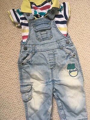 Baby Boys Dungaree Set 3-6 Months - M&S