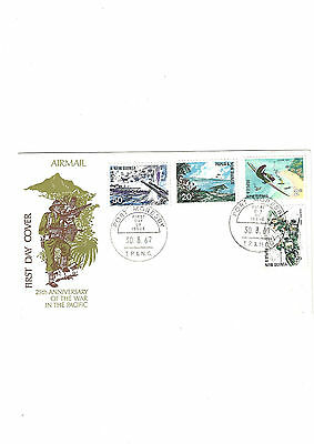 FDC First day cover papua new guinea 1967 25th anniversary war in pacific