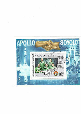 Stamp Sheet Mauritaine Space Apollo 1976