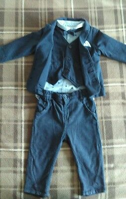 Next Baby boy's occasion outfit suit 9-12 M