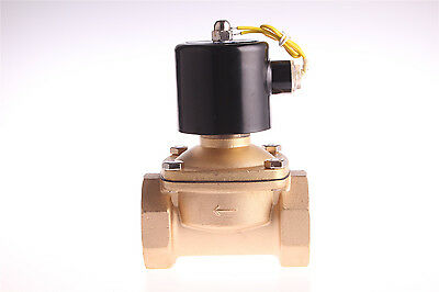 """2"""" DC 12V Electric Solenoid Valve Water Gas Oil Pneumatic Valve 2W500-50"""