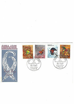 FDC First day cover papua new guinea 1967 BIRDS