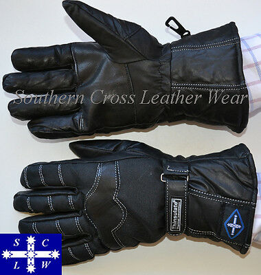 Platinum Leather/Cordura® Motorcycle Riders Gloves