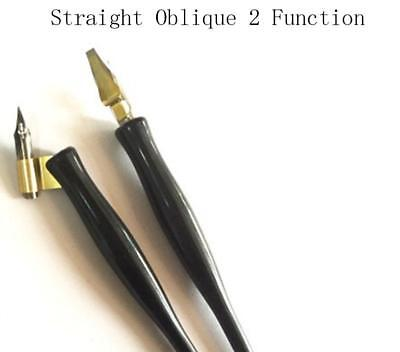 English Professional Calligraphy  Straight Oblique 2 Function Dip Pen Holder
