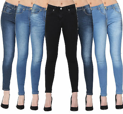 Womens Ladies Fashion Skinny Fit Denim Jeans / Jeggings Sizes 6/8/10/12/14/16/18