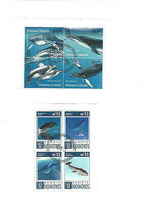 SOLOMON ISLANDS STAMP Stamp sheets * 2 DIFFERENT CTO DOLPHINS WHALES