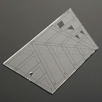 Sewing Patchwork Ruler Cutting Tailor Craft Scale Trapezoid Triangle Diamond