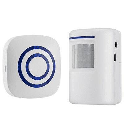 Home Security Alarm, Wireless Driveway Alert: Infrared Motion Sensor Chime E6G1