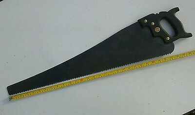 Old vintage 4 Warranted Superior hand saw tool .