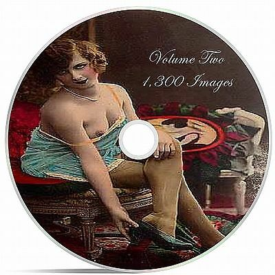1,300 Vintage Victorian Risque, Burlesque Postcard Nude Photos On DVD Volume 2