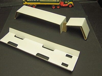 1975 & 1976 Hess Barrel Trailer Truck Box inserts 75 76