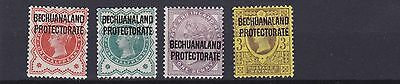 Bechuanaland  1897 - 02      S G  59 - 63    Values To 3D Mh
