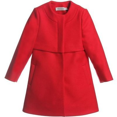 Christian Dior Baby Red Wool Cashmere Coat 2 Years