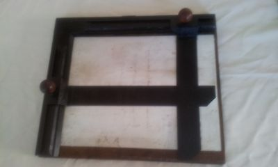Vintage Steel And Timber  Easel Mask  Photographic Darkroom Equipment