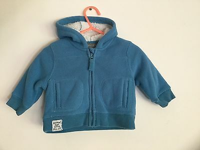 Pumpkin Patch Soft Lined Blue Hooded Jacket Size 000