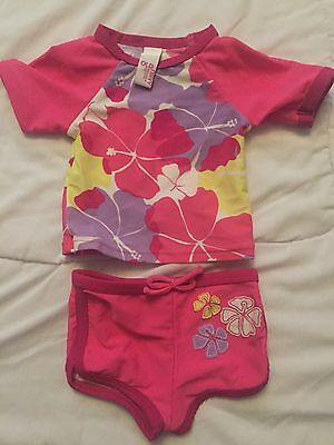 Baby Girl Size 000 Swimmers/Bathers 2 Piece