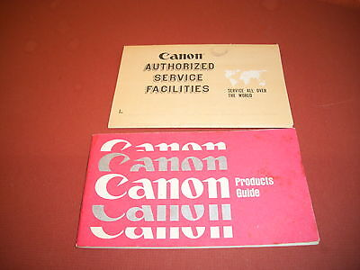 Canon camera product guide brochure VINTAGE