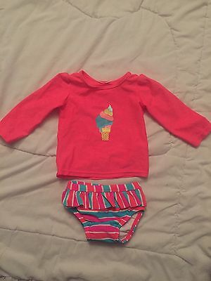 Baby Girls Size 000 Long Sleeve 2 Piece Bathers/Swimmers