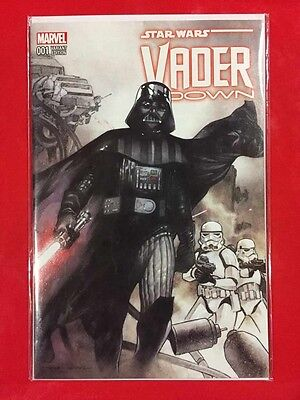 Original Marvel Vader Down #001 Variant Edition With Df Coa 1 Of 15000