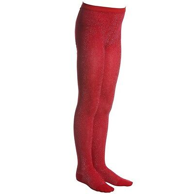 Baby Dior Red Sparkly Viscose Tights Eu 23/24 2 Years