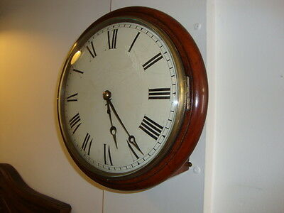 Antique Station/School Wall Clock Fusee Movement
